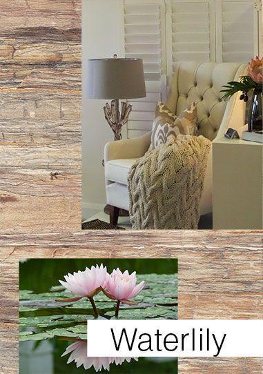 Waterlily wallpaper - handmade grass weave :: Serenity Interiors