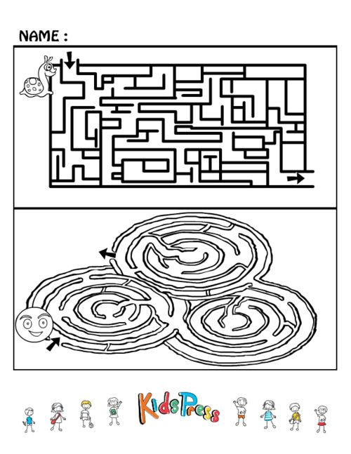 Medium Kids Maze Games #1  #Maze #brain #teaser #printable #game