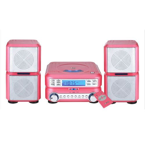 Curtis Pink CD Micro System