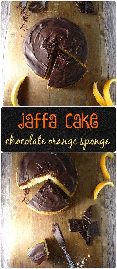 Jaffa Cake Sponge (Chocolate Orange Cake - Gluten Free)