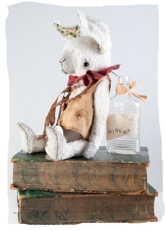 gorgeous white rabbit by The Vintage Magpie