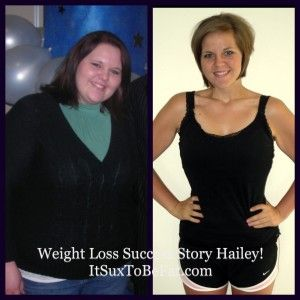 Hailey who started off her weight loss journey weighing 295 pounds. Through diet and exercise, she lost 135 pounds!