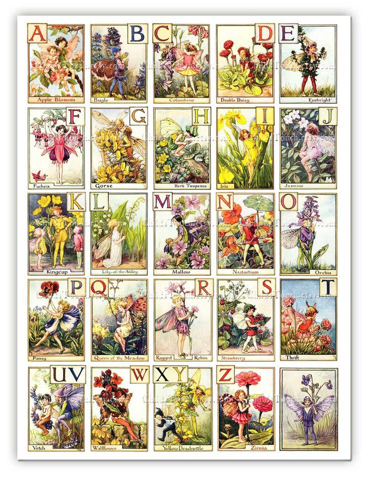 Fantastic Fairy ABC Poster - 18x24 inch Giclee Print - Great for Framing - Nursery Art. $42.00, via Etsy.