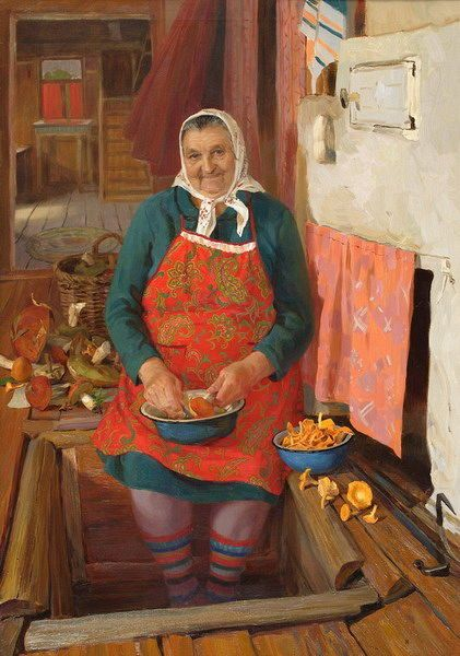 Татьяна Юшманова. Портрет бабушки Шуры. 2006 г. Холст, масло.100х80 см