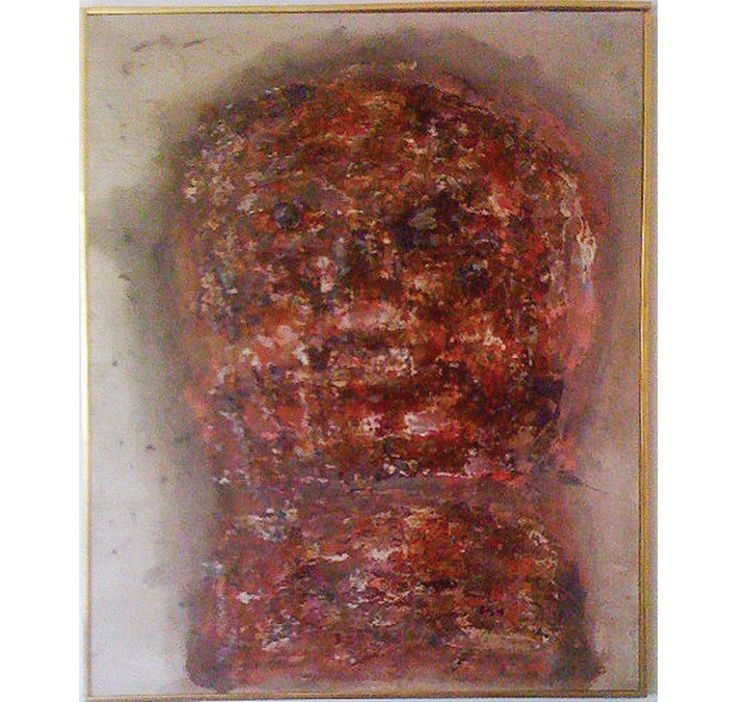 LEON GOLUB Head, 1961 Oil and lacquer painting on canvas 50 × 41 in 127 × 104.1 cm