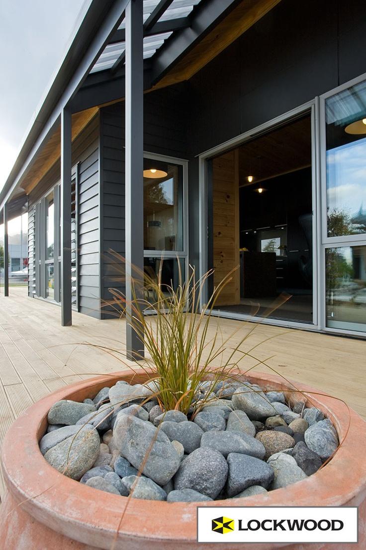 Wide decks for good indoor-outdoor flow