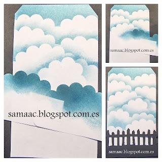 Tutorial Scrapbooking. Fondo de Nubes.