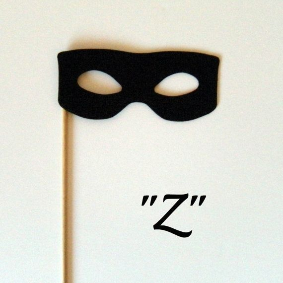 Photobooth prop KIT Z  for Zorro by KittyDuneCuts on Etsy, $2.00