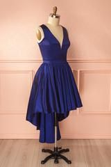 Lonnie Marin Navy Blue Hi-Low Cocktail Dress | Boutique 1861