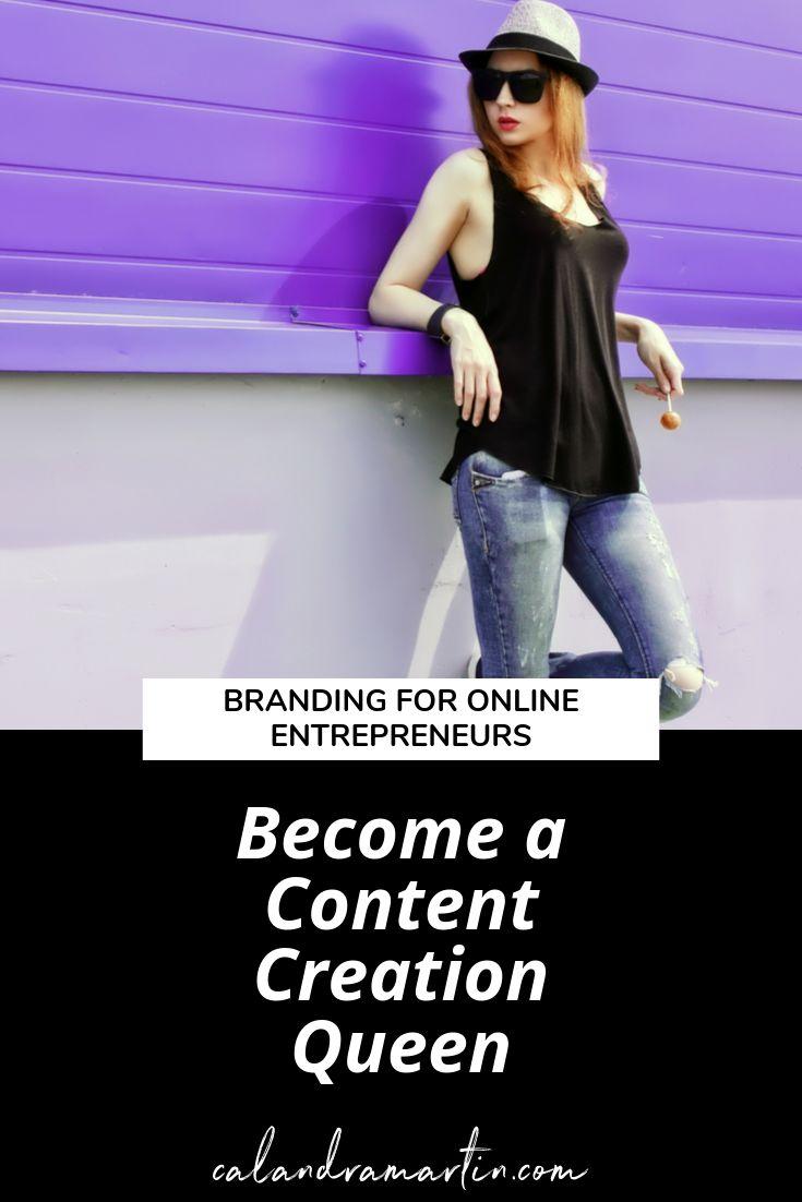 Werden Sie eine Content Creation Queen | Steigern Sie Ihr Geschäft | Markeninspiration