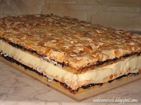Smaczne kruche blaty z bezą i dżemem porzeczkowym przełożone masą kremową, Pani Walewska, beza, ciasta, ciasto pani walewska, kruche ciasto, masa kremowa, pani walewska,