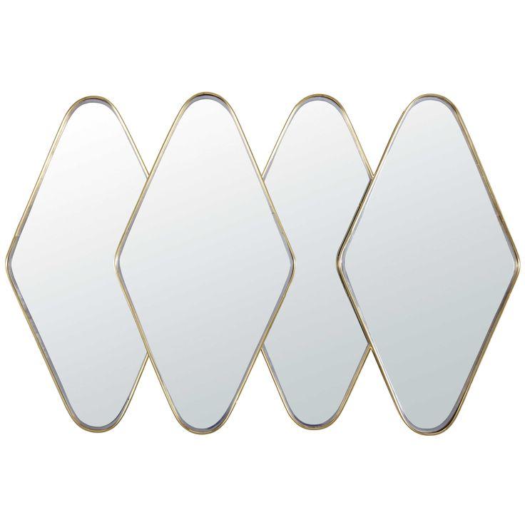 Miroir en métal doré 100x13cm ANTIGONE