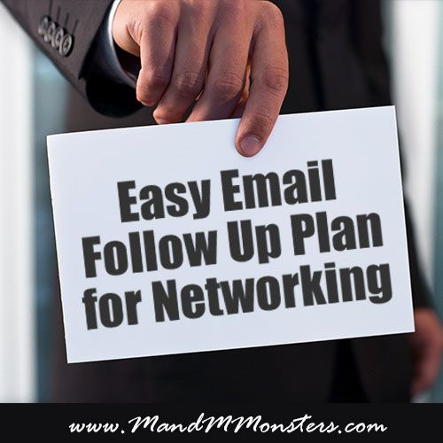 Easy Email Follow Up Plan for Networking