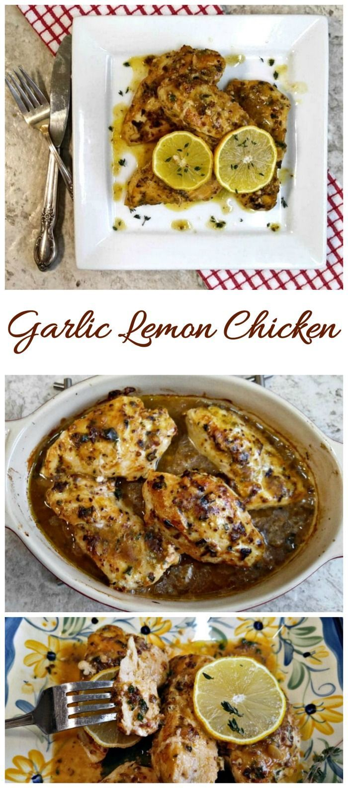 This garlic lemon chicken has an amazing sauce that is tart and savory. It's ready in about 30 minutes and is easy to prepare.#garliclemonchicken #30minutemeals