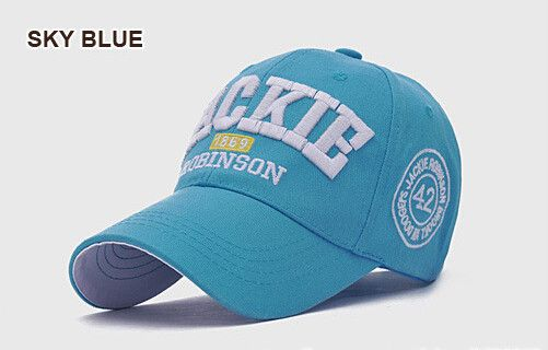 7 Colors JACKIE Robinson Baseball Cap Unisex Chapeau Sport Outdoor Canvas Visera Cotton Embroidered Hat JACKIE Baseball Caps