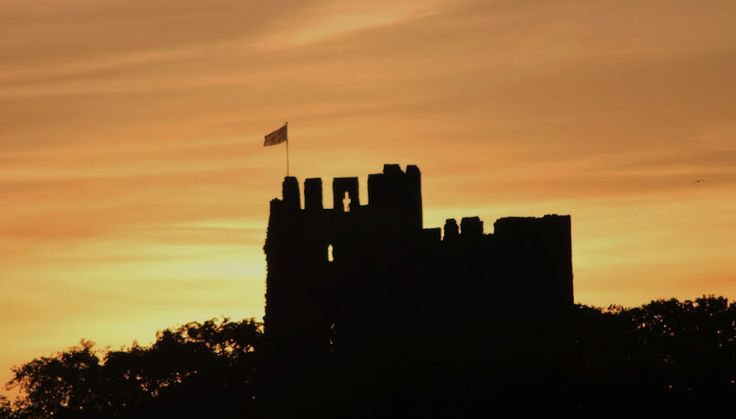 Dudley Castle at twilight