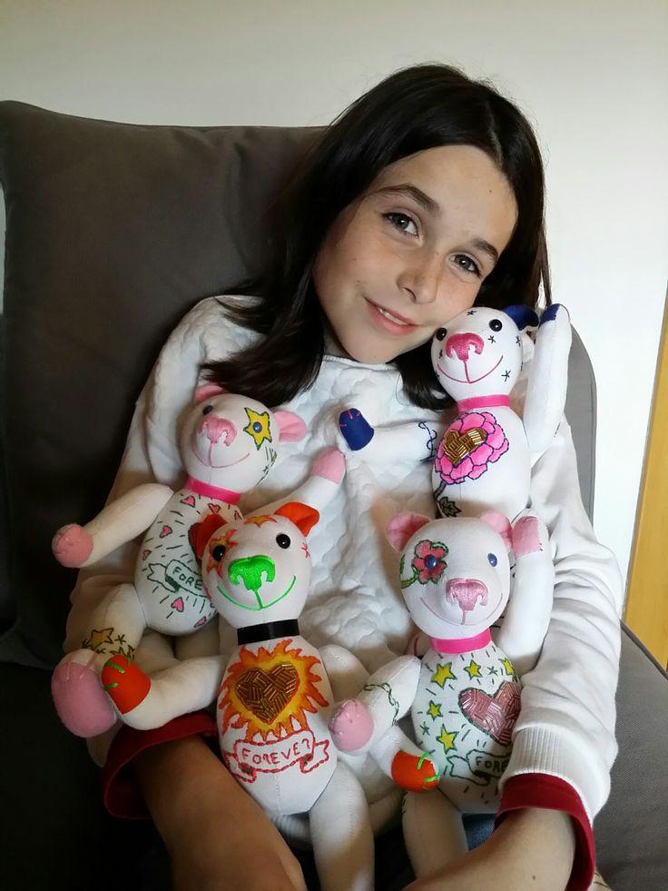 Blanca loves her Mini Teddy Bears!
