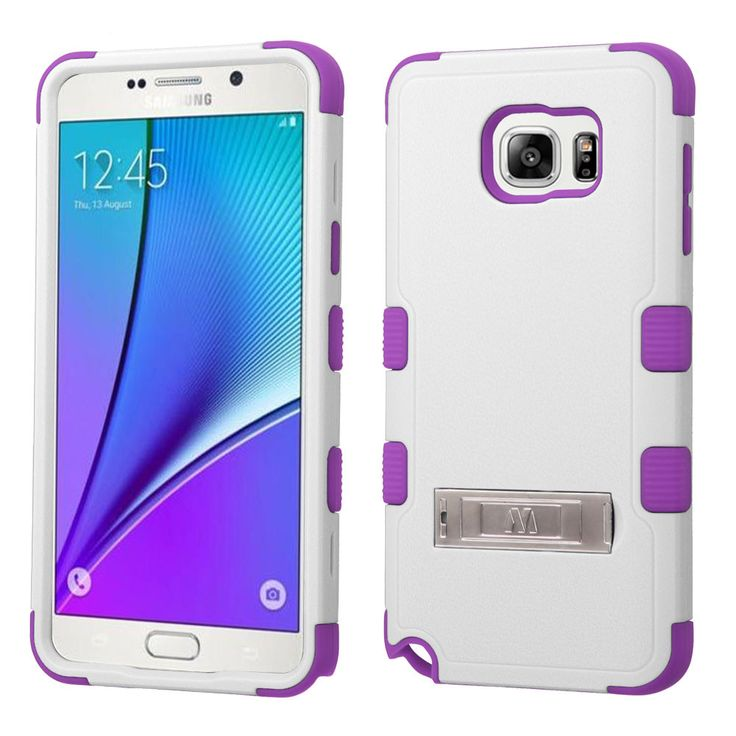 MYBAT TUFF M-Stand Samsung Galaxy Note 5 Case - White/Purple