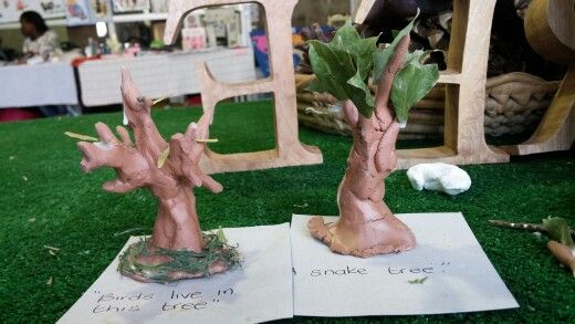 Clay trees, documented with kids short explanations