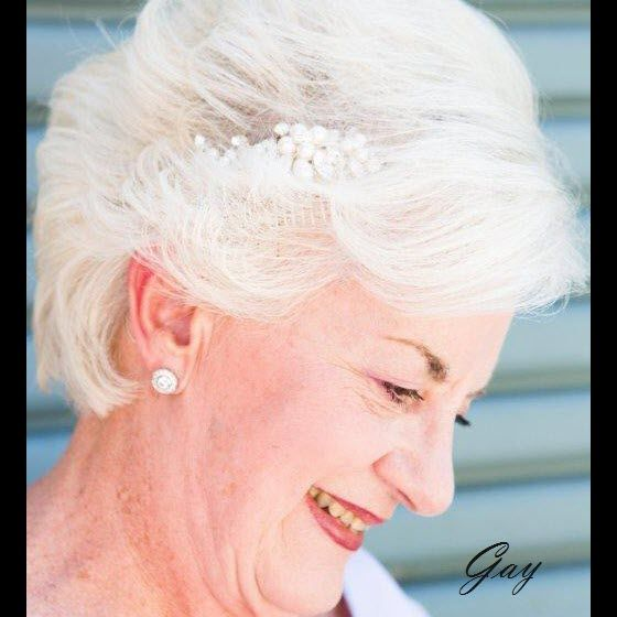 Real Bride - Gay you look Beautiful!! Thank you so much for sharing with us. #wedding #bride #headpeice www.shellarndesign.com.au