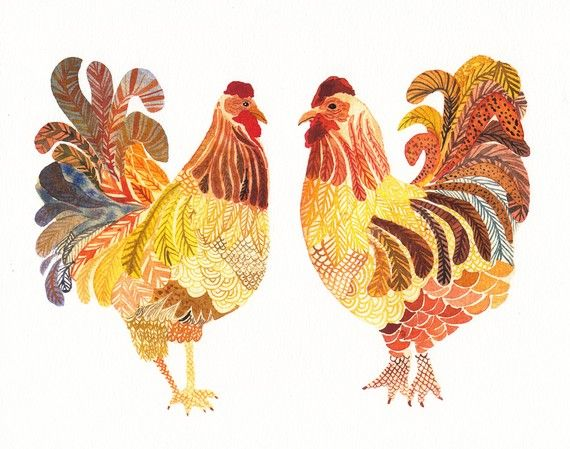 chickens, lovely.: Birds Prints, Watercolor, Applique Quilts, Editing Prints, Chicken Illustrations, Chickenspaint Art, Chickensbabi Dogs, Chickenspaint Paintings, Chicken Art