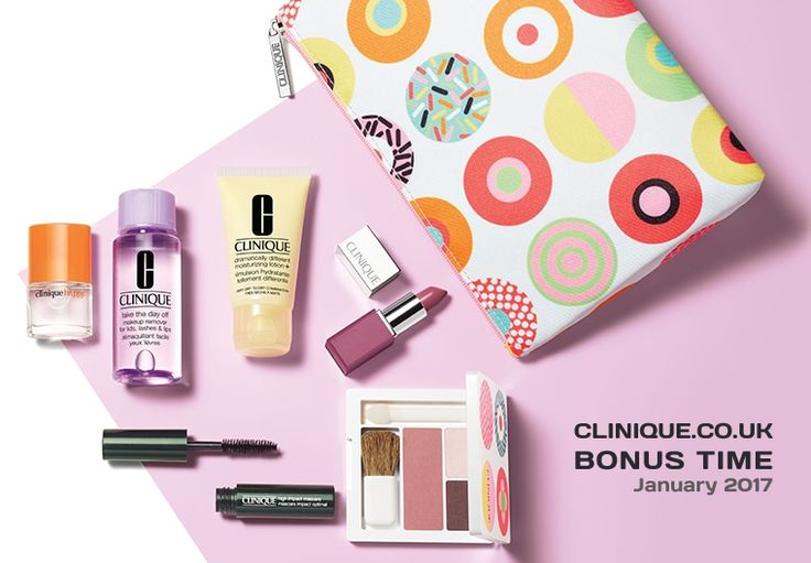 Bonus time in United Kingdom - direct from Clinique official website. Spend £45 to qualify. http://clinique-bonus.com/united-kingdom/