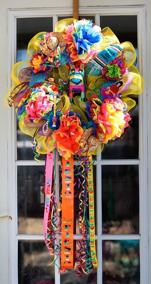 17 Best Images About Fiesta Wreaths On Pinterest Ribbons