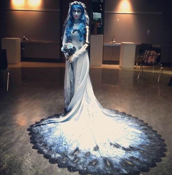 Corpse bride wedding dress custom