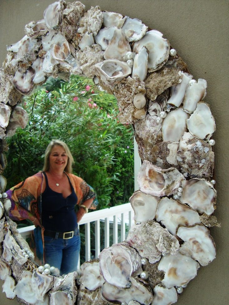 mirror from oyster shells (made in 2011)