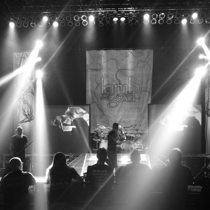 Another great shot of Lamb of God rehearsing in Phoenix for their fall tour 2012