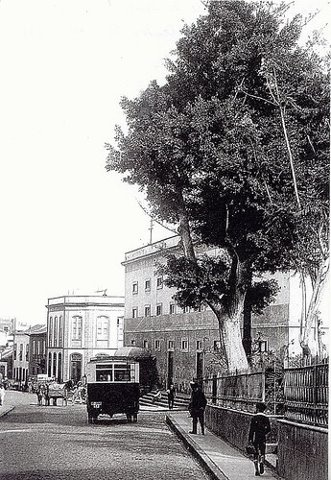 Calle Santo Domingo, Teatro Guimerá, Santa Cruz de Tenerife 1916
