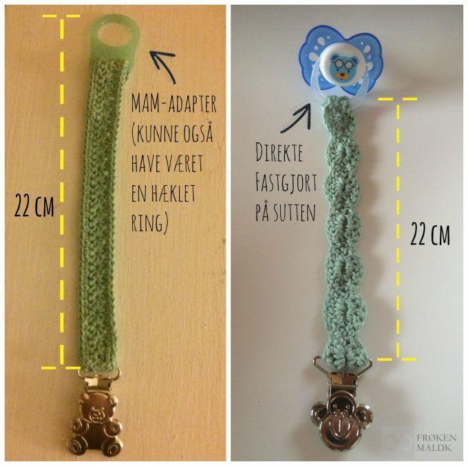 Sikkerhed mht. suttekæder - Jeg skrev simpelthen til Sikkerhedsstyrelsen ;-) Safety regarding pacifierclips. Crochet Away !! :-)