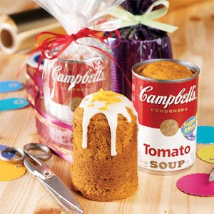 Campbell's Kitchen: Spiced Tomato Soup Cancakes Such a cool gift idea, I