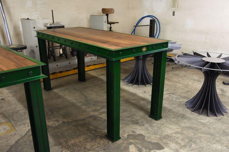 Green Firehouse Bar Tables – Model #FH11 – Vintage Industrial Furniture