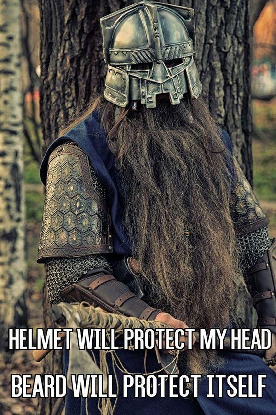 Helmet Will Protect My Head Beard Will Protect Itself From Beardoholic.com