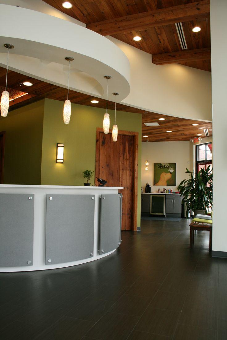 veterinary checkin desk by bluefrog designbuild firm