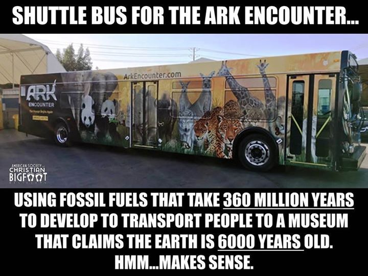 They wasted so much money on that ark thing. We should go visit it and say how stupid it is.
