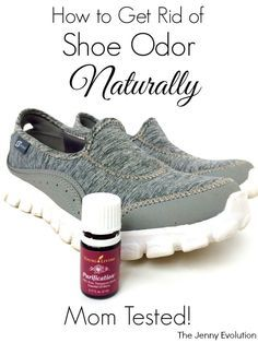 DIY! How to Get Rid of Shoe Odor Naturally with Essential Oils -- No chemicals!