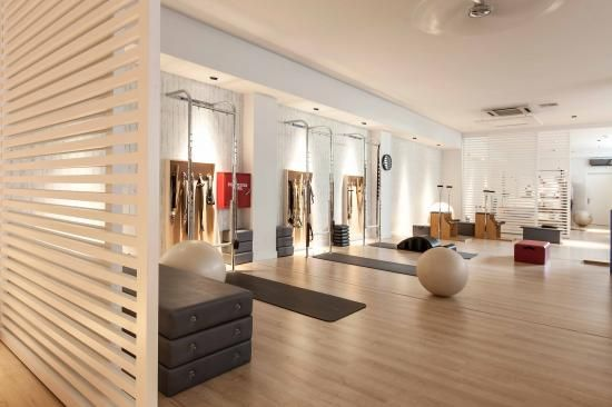 I like the room dividers Interior Design Pilates Studio | Marilena Rizou | Projects | Mind & Body | Image 7