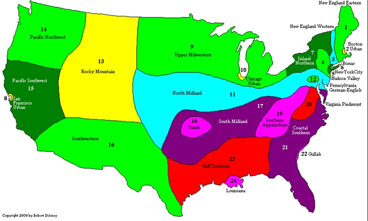 What dialect do you speak? A map of American English