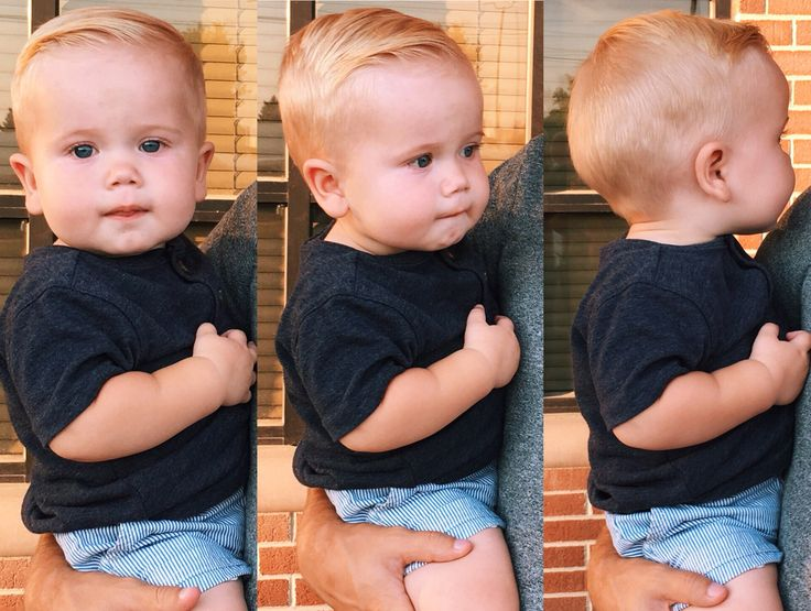 Baby/ toddler boy haircut.