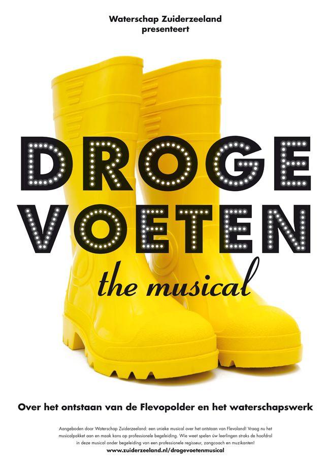 Simons en Boom: Poster Waterschap Zuiderzeeland - Droge Voeten The Musical
