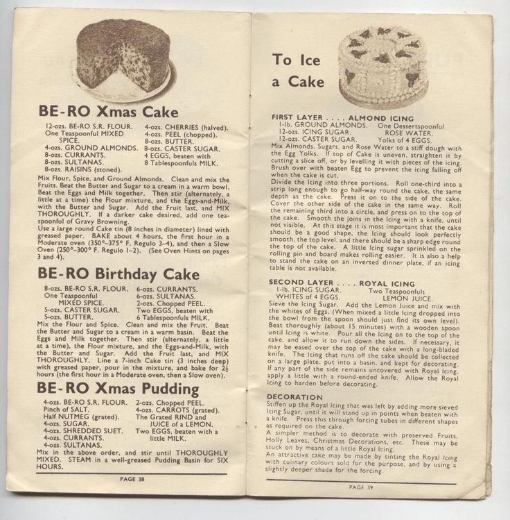 recipes from old cake flour boxes   Matelic - Image - old recipe book recipes