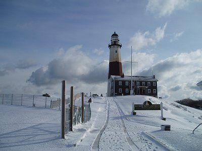 Winter at Montauk Point Lighthouse NY
