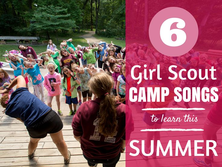 Warm up your voice and get ready to practice six favorite Girl Scout camp songs!