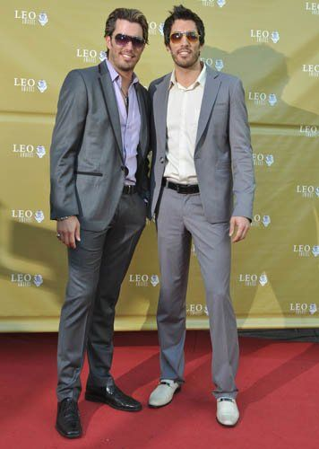 With Drew Scott at the 2010 Leo Film & Television Awards.