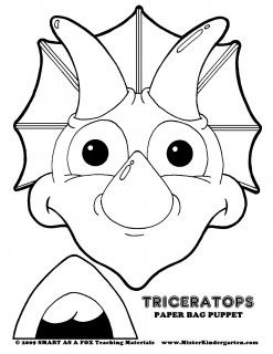 Invaluable image within free printable paper bag puppet templates