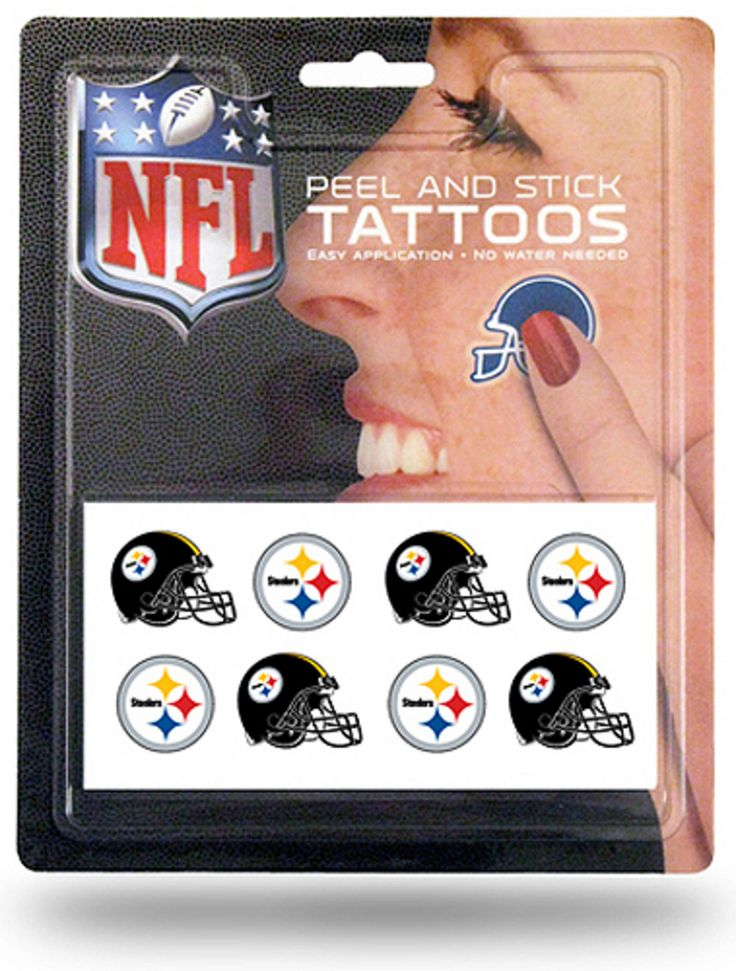 Pittsburgh Steelers 8 Piece Temporary Tattoos