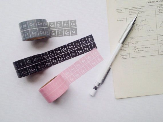 The Periodic Table of Elements Washi Stationary by WeTheSciencey