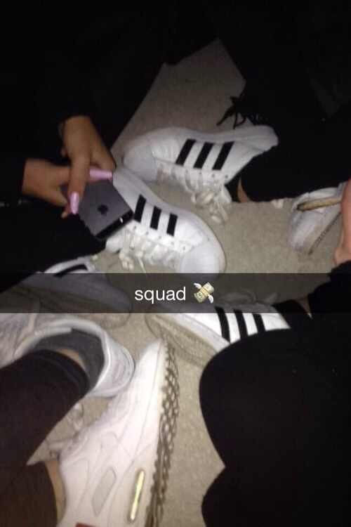 This is our squad matching but with white converse ❤️